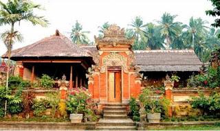 Provinsi Bali Rumah Tradisional Gapura Candi Bentar