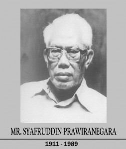 Pahlawan Nasional MR. Syafrudin Prawiranegara