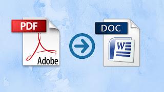 Cara convert PDF ke Ms word - word to PDF Pengertian,Fungsi,Kelebihan,Kekurangan