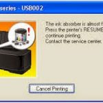 Cara mengatasi masalah Printer canon IP Ink Absorber Is Almost Full