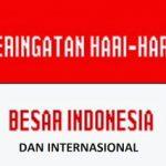 Daftar Hari-hari Besar Nasional Indonesia dan Internasional