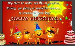 Contoh Greeting Card untuk Ulang Tahun (Happy Birtday)