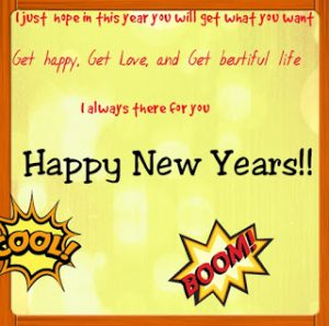 Contoh Greeting Card Tahun Baru (Happy New Year)