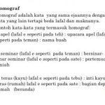 contoh Kata dan kalimat homograf serta pengertian
