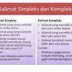 Pengertian Fungsi Serta Contoh Kalimat Kompleks dan Simpleks
