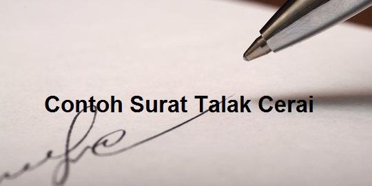 Contoh Surat Talak Cerai